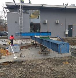 Bielsko-Biała - statische Prüfung der Pfahltragfähigkeit